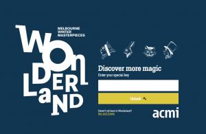 Screenshot of Wonderland post-visit homepage