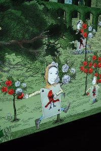 An interactive in the Wonderland experience