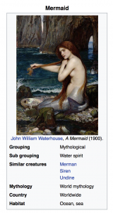 Wikipedia article about mermaid