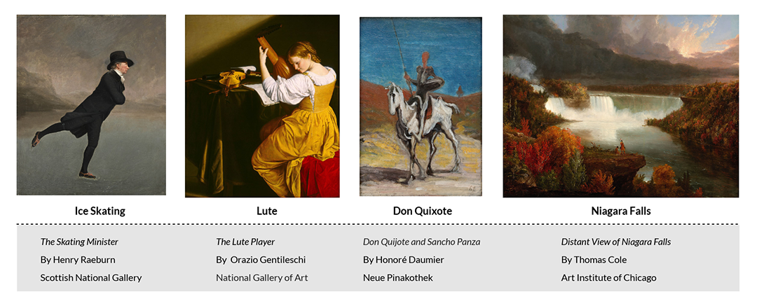 Examples of painting images used on Wikipedia articles
