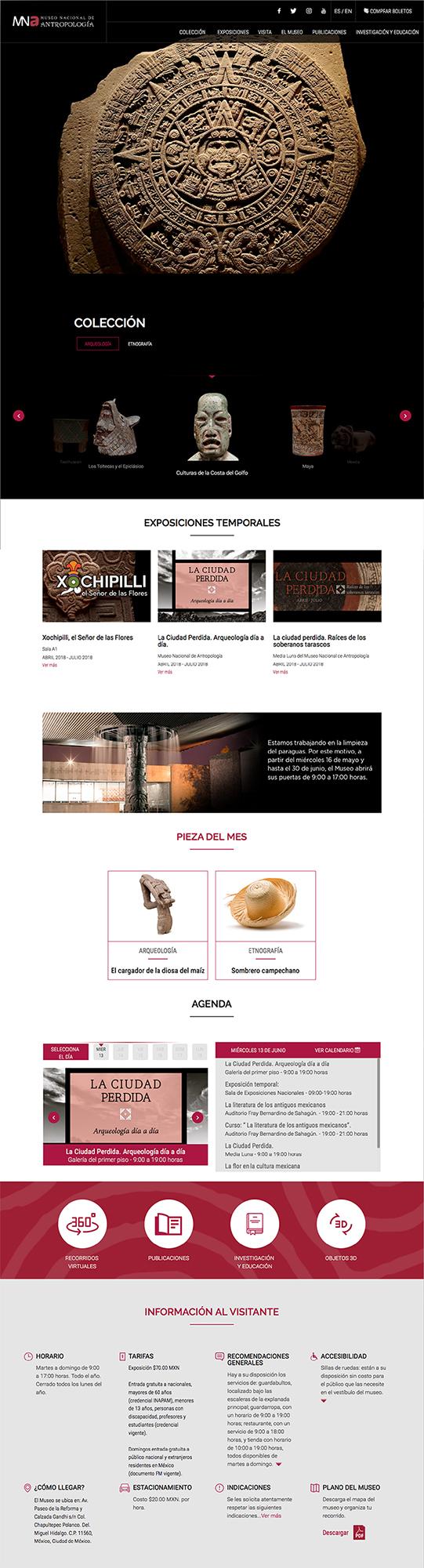 Graphic interface of Museos de México